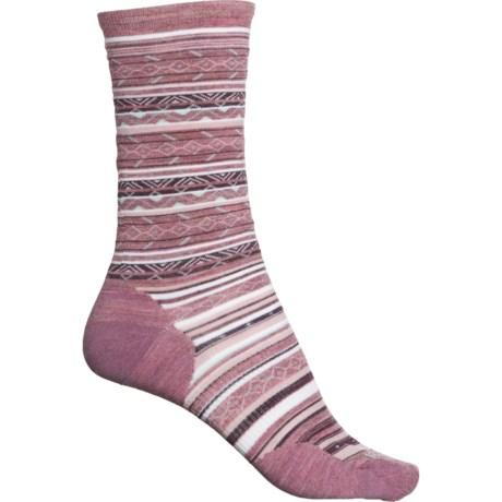 Ethno Graphic Socks - Merino Wool, Crew (For Women) - NOSTALGIA ROSE (L ) -  SmartWool