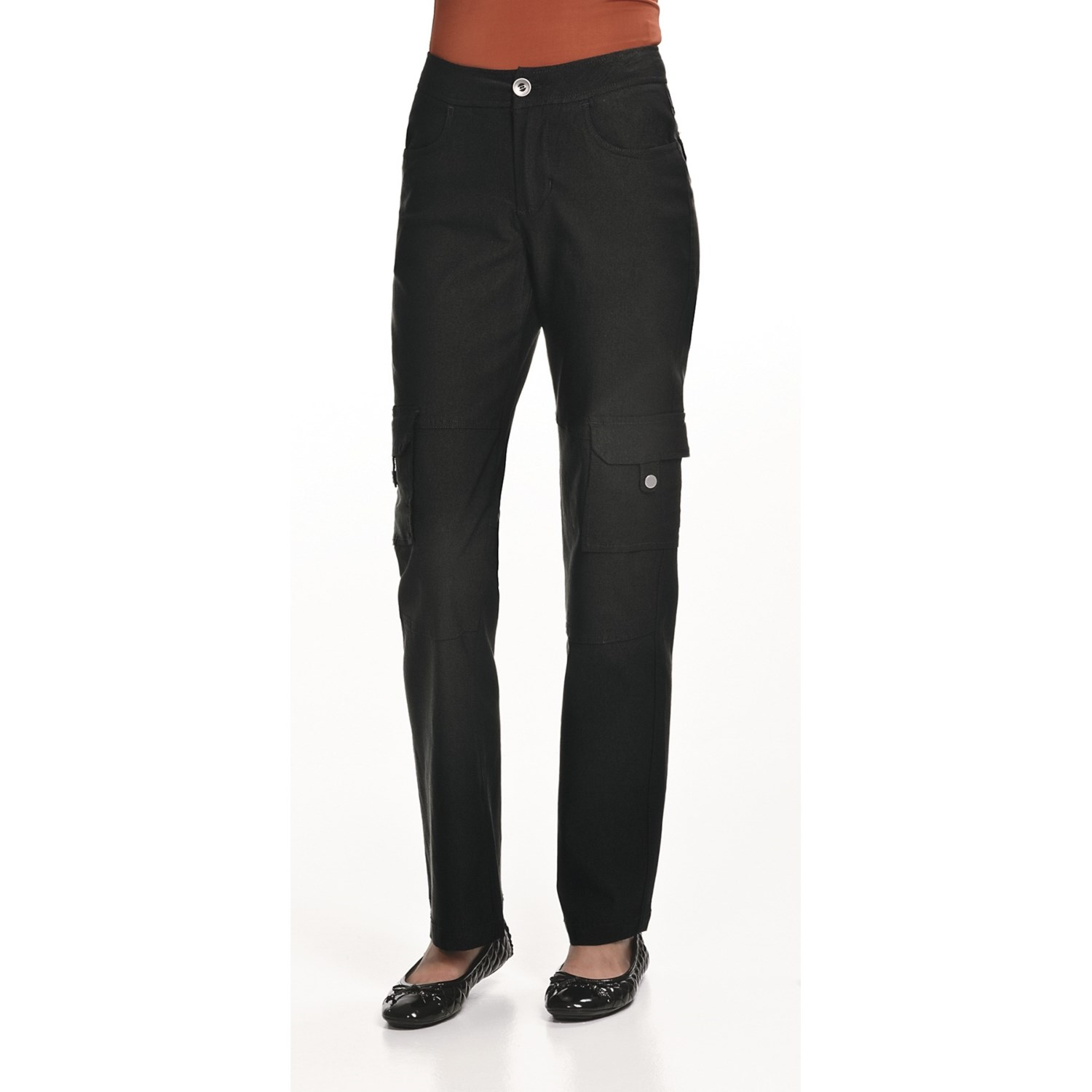 Cool The Dickies Womens Premium Cargo Pant Is A Relaxed Fit, Straight Leg Pant That Is Made From A 675oz Mechanical Stretch Twill, 65% Polyester 35% Cotton This Fabric Is Wrinkle Resistant And Has Scotchguard Easy Care Stain Release