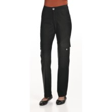 Ethyl Bengaline Cargo Pants - Straight Leg (For Women) in Black - Closeouts