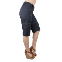 Ethyl Cargo Capris (For Women) in Navy - Closeouts