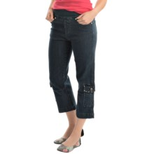 Ethyl Cargo-Pocket Pull-On Denim Capris (For Women) in Denim - Closeouts