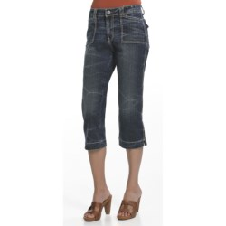 Ethyl Classic Capris (For Women) in Crackle Stone Wash