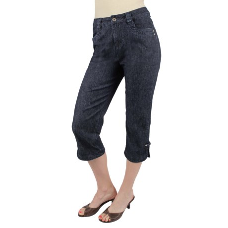 Ethyl Classic Denim Capris (For Women) in Dark Denim