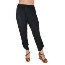 Ethyl Cotton Sheeting Pants (For Women) in Black - Closeouts