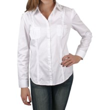 Ethyl Cotton Shirt - Button Front, Long Sleeve (For Women) in White - Closeouts