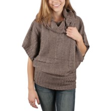 Ethyl Cowl Neck Sweater - Short Sleeve (For Women) in Chocolate - Closeouts