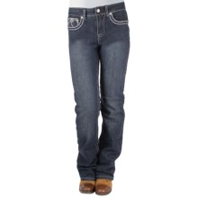 Ethyl Flower Jeans - Classic Fit, Bootcut (For Women) in Dark Wash - Closeouts