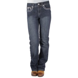 Ethyl Flower Jeans - Classic Fit, Bootcut (For Women) in Dark Wash