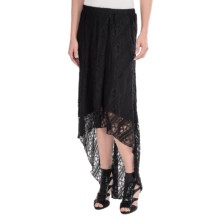 Ethyl Hi-Low Lace Skirt (For Women) in Black - Closeouts