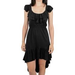 Ethyl Hi-Low Ruffle Trim Dress - Sleeveless (For Women) in Black
