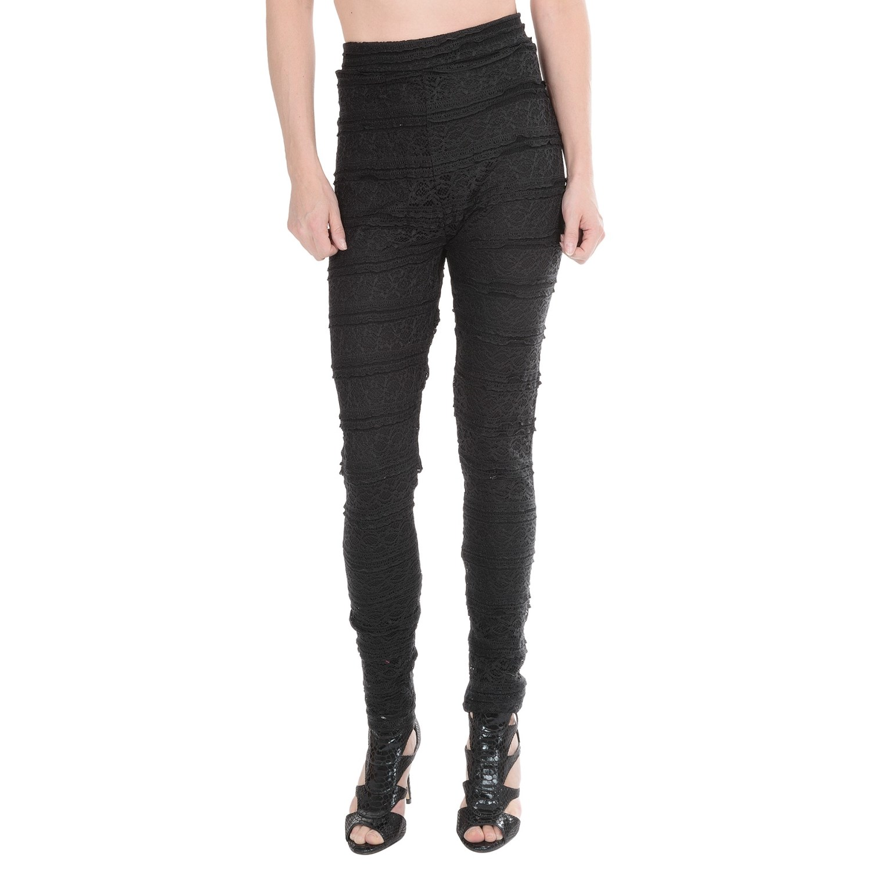Womens Daisy Leggings Ethyl Lace Lined Leggings For Women In Black~p~t