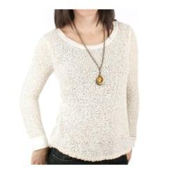 Ethyl Popcorn Stitch Sweater (For Women) in Cream