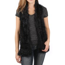 Ethyl Ribbon and Faux-Fur Sweater Vest (For Women) in Black - Closeouts