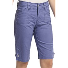 Ethyl Ripstop Bermuda Shorts - Bling (For Women) in Periwinkle - Closeouts