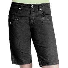 Ethyl Ripstop Bermuda Shorts (For Women) in Black - Closeouts