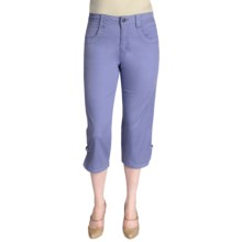 Ethyl Ripstop Cotton Capris - Bling (For Women) in Periwinkle - Closeouts