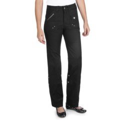 Ethyl Ripstop Roll-Up Cargo Pants (For Women) in Black