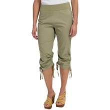 Ethyl Ruched Drawstring Capris (For Women) in Olive - Closeouts