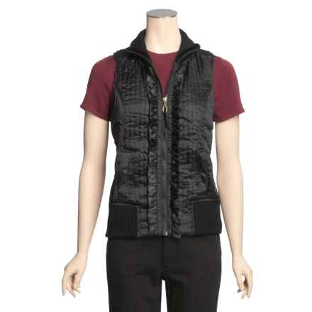 Ethyl Silky Vest - Knit Back (For Women) in Black - Closeouts