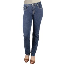 Ethyl Skinny Denim Jeans - Back Pocket Embroidery (For Women) in Medium Wash - Closeouts