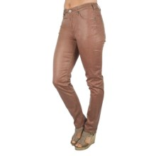 Ethyl Snakeskin Print Ankle Pants (For Women) in Brick - Closeouts