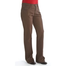 Ethyl Stretch Cotton Twill Pants - 5-Pocket, Bootcut (For Women) in Chocolate - Closeouts