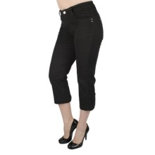 Ethyl Studded Chino Capris (For Women) in Black - Closeouts