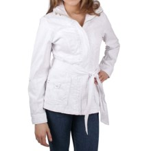 Ethyl Tie-Front Jacket - Stretch Cotton  (For Women) in White - Closeouts