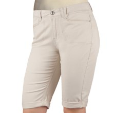 Ethyl Twill Bermuda Shorts - Rolled Cuffs (For Women) in Putty - Closeouts