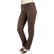 Ethyl Twill Cargo Ankle Pants (For Women) in Chocolate - Closeouts