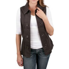 Ethyl Vest with Detail Stitching - Stretch Cotton (For Women) in Espresso - Closeouts