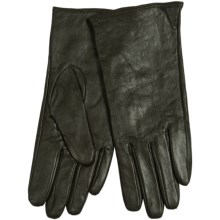 Etienne Aigner Glace Leather Gloves - Cashmere Lining (For Women) in Loden Green - Closeouts