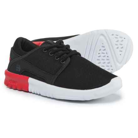 Etnies Scout Shoes (For Boys) in Black/White/Black - Closeouts