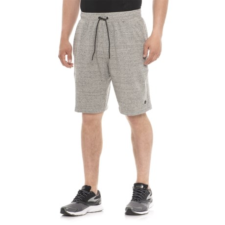 """Etonic F1T French Terry Shorts - 10"""" (For Men) in Ash Heather"""