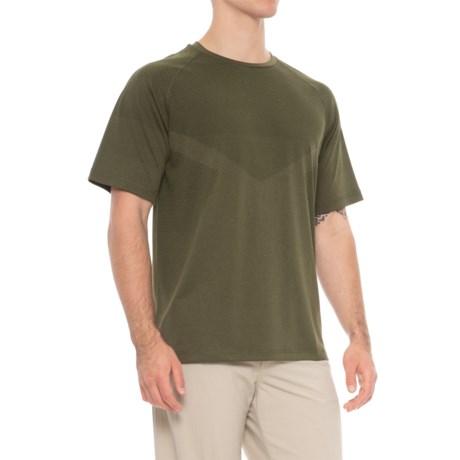 Etonic Nimble Bodymap T-Shirt - Short Sleeve (For Men) in Olive Heather