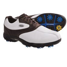 Etonic Sof-Tech Dress Golf Shoes - Waterproof (For Men) in White/Dark Brown - Closeouts