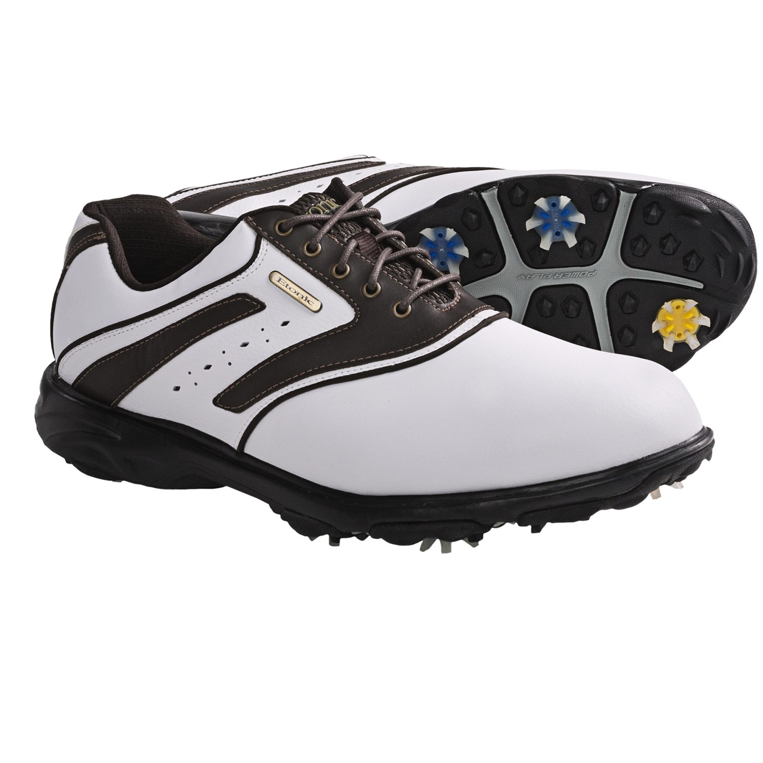 Etonic Sport Tech III Golf Shoes - Waterproof (For Men) in White/Brown