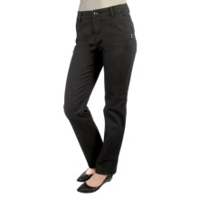 Euro 5- Pocket Twill Pants - Curvier Fit, Straight Leg (For Women) in Black - Closeouts