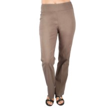 Euro Bangaline Pull-On Pants - Straight Leg (For Women) in Brown - Closeouts