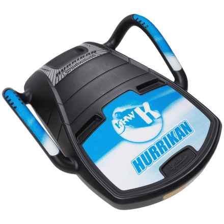 Eurosled Merikan Missile Sled in Black/Blue Hurrikan - Closeouts