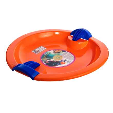 Eurosled Rock N Rip Saucer Sled in Orange - Closeouts