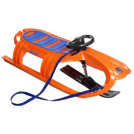 Eurosled Snow Tiger Deluxe Sled in Sunspot Orange/Black - Closeouts