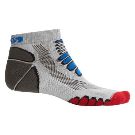 Eurosock 5K Silver Midweight Ped Socks - Ankle (For Men and Women) in Gray - Closeouts