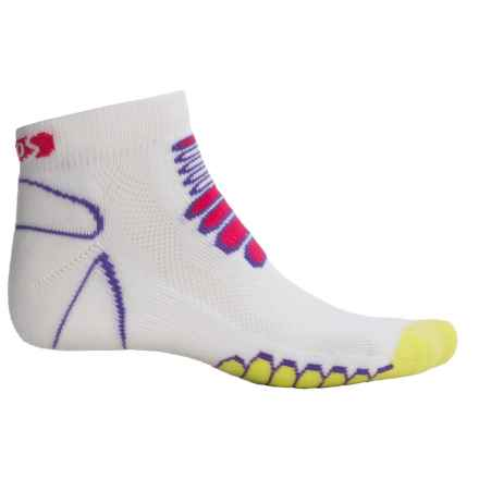 Eurosock 5K Silver Midweight Ped Socks - Ankle (For Men and Women) in White/Yellow - Closeouts