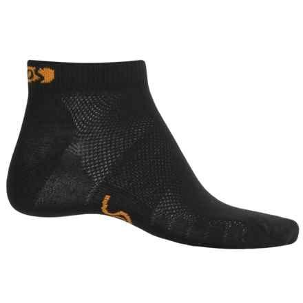 Eurosock 5K Ultralight CoolMax® Running Ped Socks - Ankle (For Men and Women) in Black - Closeouts