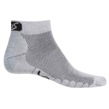 Eurosock 5K Ultralight CoolMax® Running Ped Socks - Ankle (For Men and Women) in Gray - Closeouts