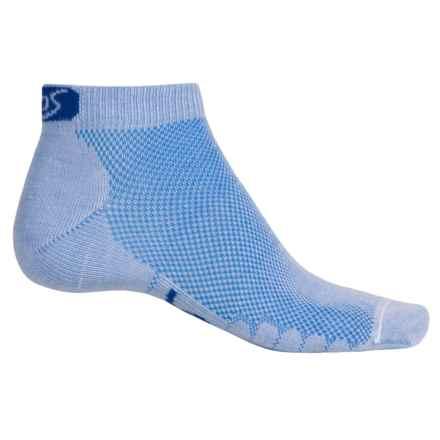 Eurosock 5K Ultralight CoolMax® Running Ped Socks - Ankle (For Men and Women) in Sky - Closeouts