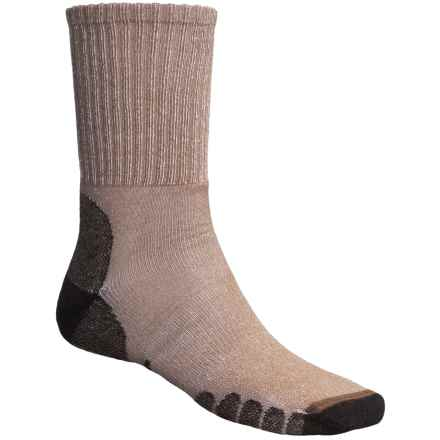 Eurosock All-Around Hiker Socks - CoolMax®, Crew (For Men and Women) in Beige - Closeouts