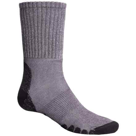 Eurosock All-Around Hiking Socks - CoolMax®, Crew (For Men and Women) in Grey - Closeouts