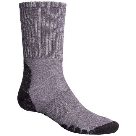 Eurosock All-Around Hiking Socks - CoolMax®, Crew (For Men and Women) in Grey